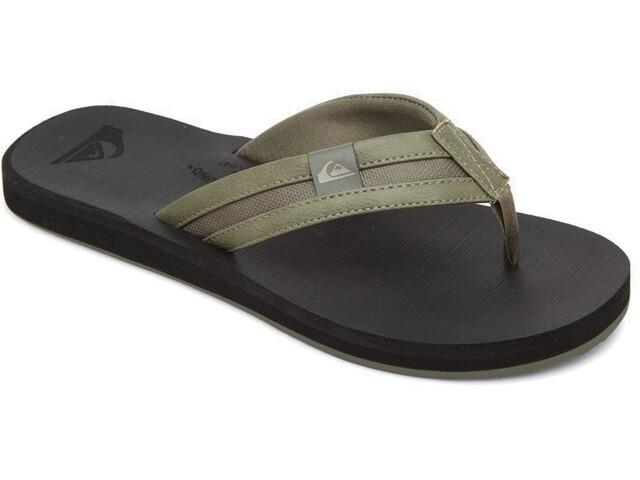 Quiksilver Carver Squish Sandals Men, verde/negro